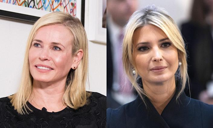 Chelsea Handler doesn't think much of Ivanka Trump's political future. (Photos: Getty Images)
