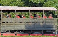Soldiers were transported on a military truck in Naypyidaw