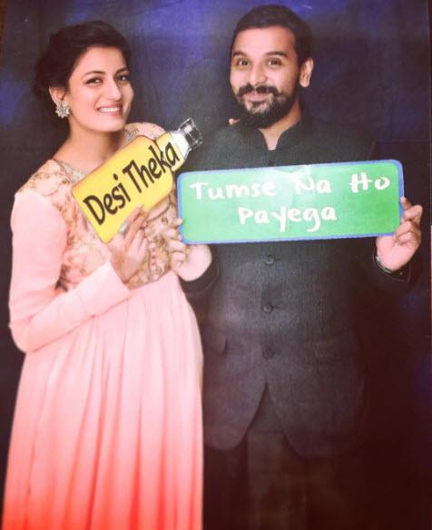 Namit Das with wife Shruti Vyas