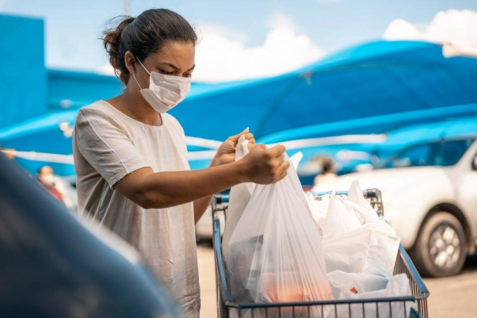 There has been a 95 per cent drop in the use of plastic bags since the introduction of a 5p charge (Getty Images)