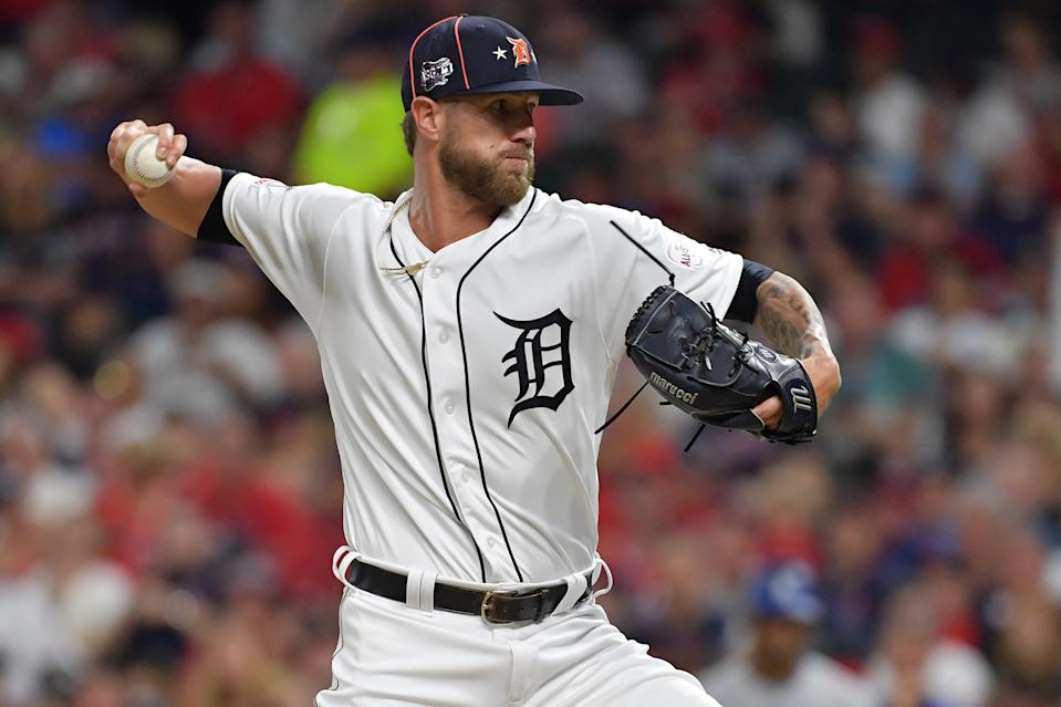 The Atlanta Braves added another bullpen piece by acquiring closer Shane Greene from the Detroit Tigers. (Photo by Jason Miller/Getty Images)