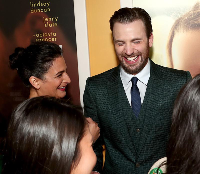 Jenny Slate still makes ex Chris Evans laugh.