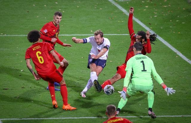 Kane could not breach the Belgian defence