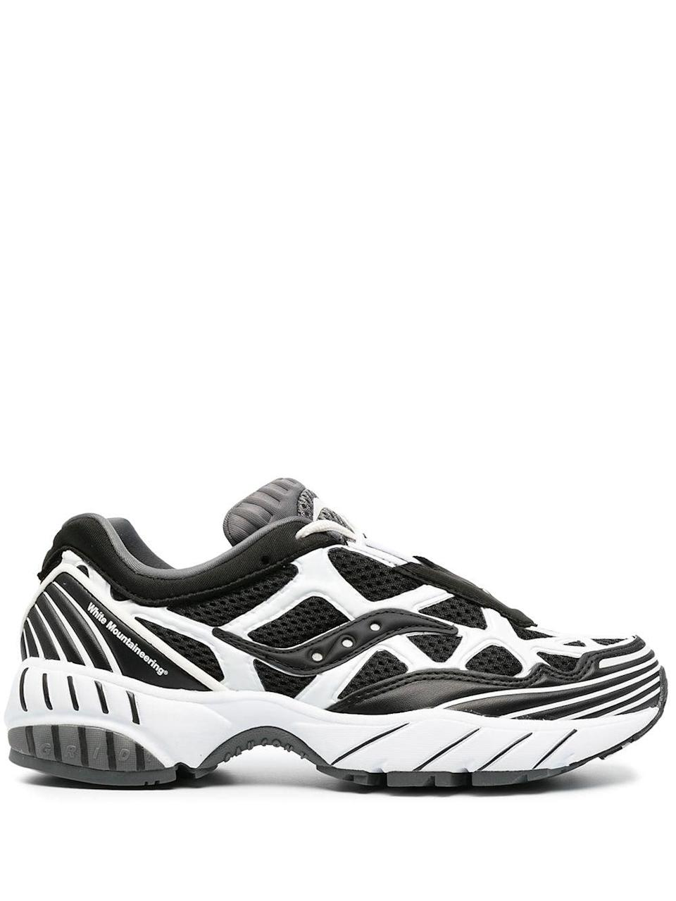 """<p>""""I run in Saucony sneakers, but I've recently discovered some of the more fashionable trainers with the<span>Saucony x White Mountaineering Low-Top Trainers</span> ($220). They feel sporty and unique, and honestly remind me of my middle school days when I wore the brand's classic Court shoes with my terry cloth Juicy trackpants."""" - Sarah Wasilak, editor, Fashion</p>"""