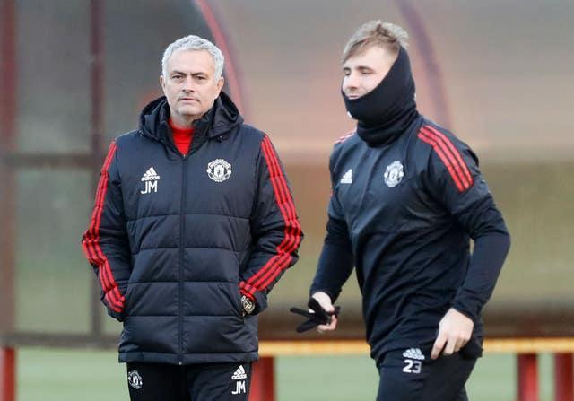 Jose Mourinho (left) was Luke Shaw's manager at Manchester United between 2016 and 2018