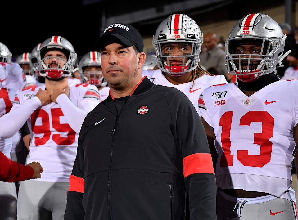 Ryan Day's Ohio State Buckeyes look like one of the best teams in the country this season but faces a test against Wisconsin on Saturday. (Getty)