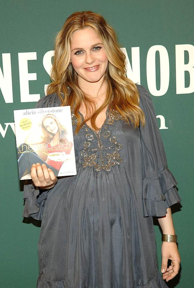 """""""Clueless"""" star Alicia Silverstone -- who was recently out signing copies of her cookbook <i>Alicia Silverstone: The Kind Diet</i> at a bookstore in L.A. -- is expecting her first baby with husband Christopher Jarecki. And that's exactly what Silverstone has always dreamed of. """"I've been wanting to have a baby since I was 2 years old,"""" she told <i>People</i> magazine last year. """"I'm destined to be a mother."""" Duffy-Marie Arnoult/<a href=""""http://www.wireimage.com"""" target=""""new"""">WireImage.com</a> - March 15, 2011"""