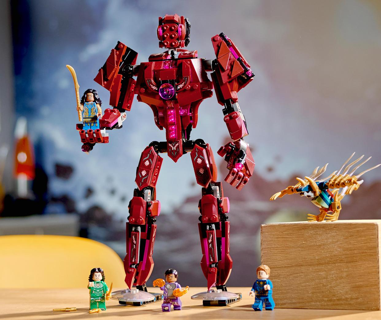 Arishem faces off with the Eternals in the new Lego set. (Photo: Lego)