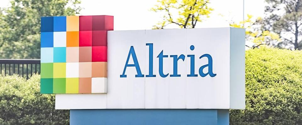 Altria office sign in Virginia capital city tobacco business.