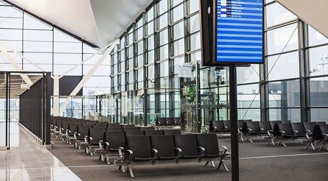 Armrests at airport lounges came in second place. Source: Getty