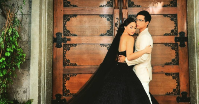 The beautiful black gown worn on the show <em>Wildflower</em>. (Photo: Instagram/iammajasalvador)