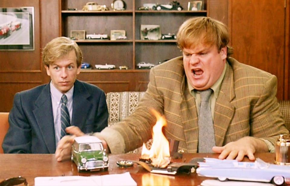 David Spade and Chris Farley in 'Tommy Boy' (Paramount)