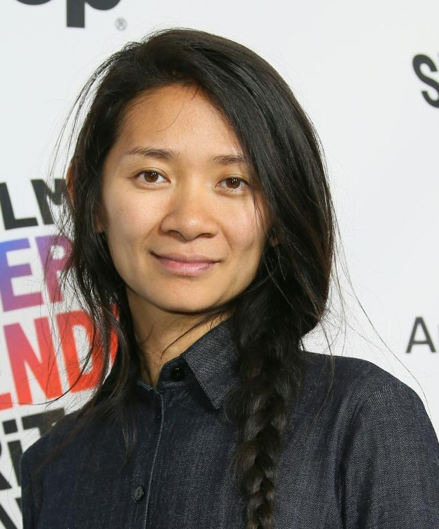"""Chloe Zhao, seen here in 2018, won the Golden Globe for best director for """"Nomadland"""""""