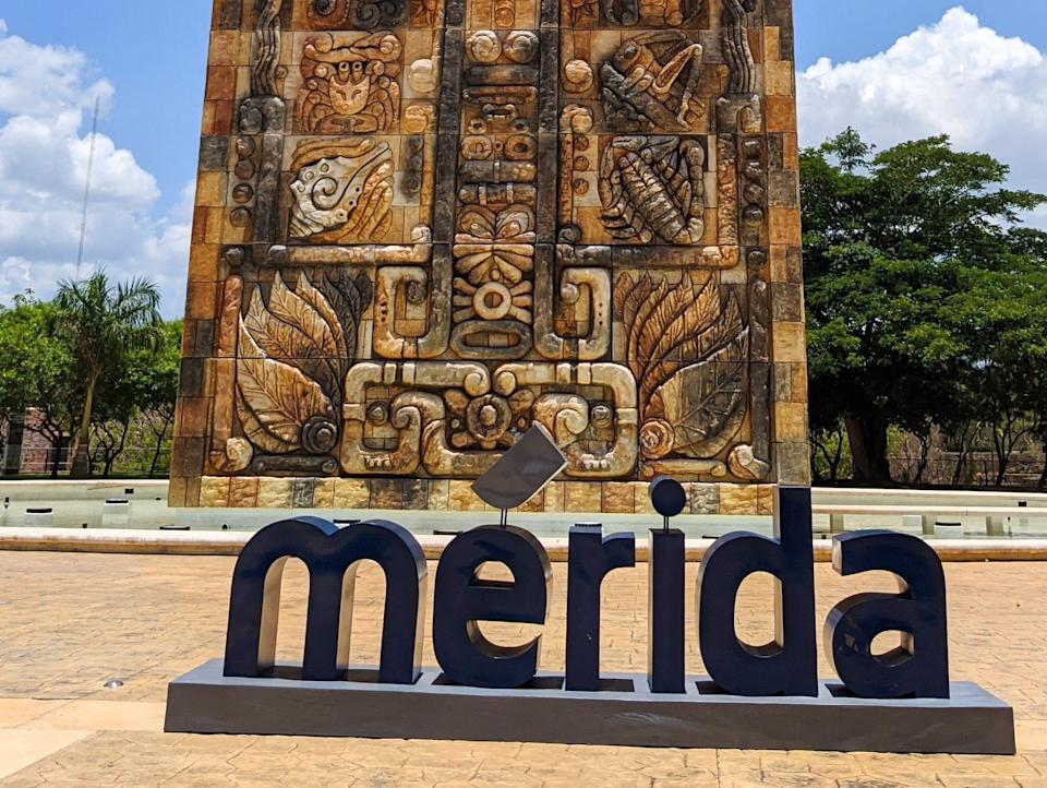 Sign for Merida mexico
