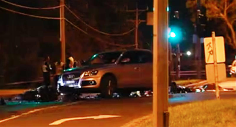 Wantirna accident: Woman helping crash victim killed by car.