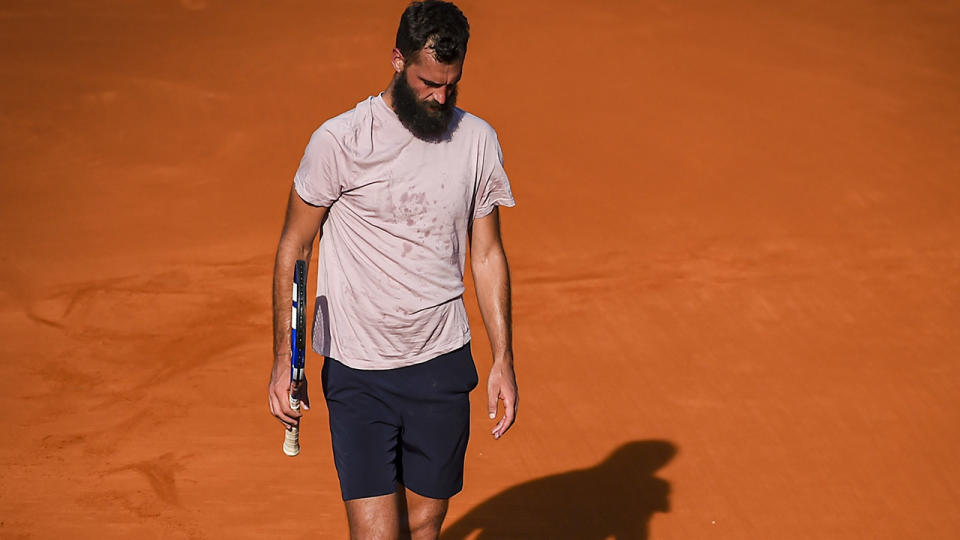 Benoit Paire, pictured here during his loss to Francisco Cerundolo at the Argentina Open.