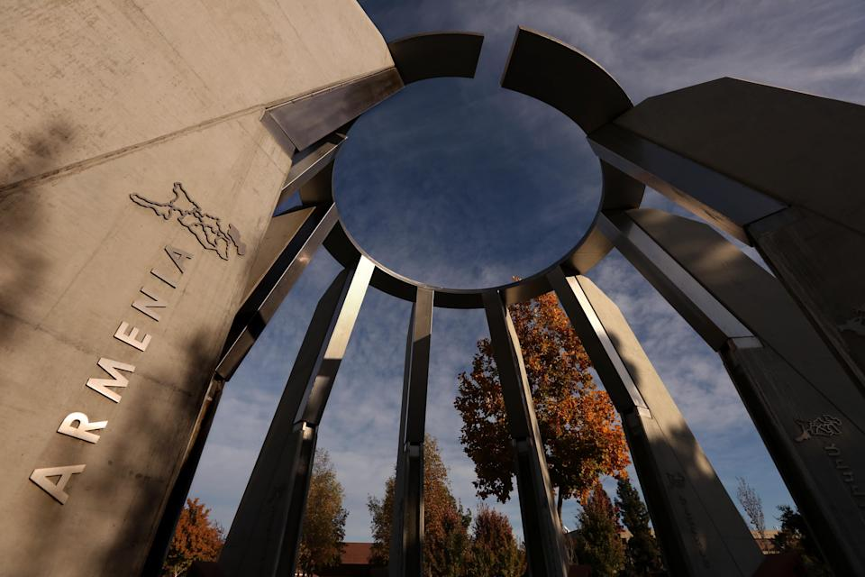 The Armenian Genocide Centennial Memorial on the campus of California State University, Fresno. (Photo: Genaro Molina/Los Angeles Times via Getty Images)