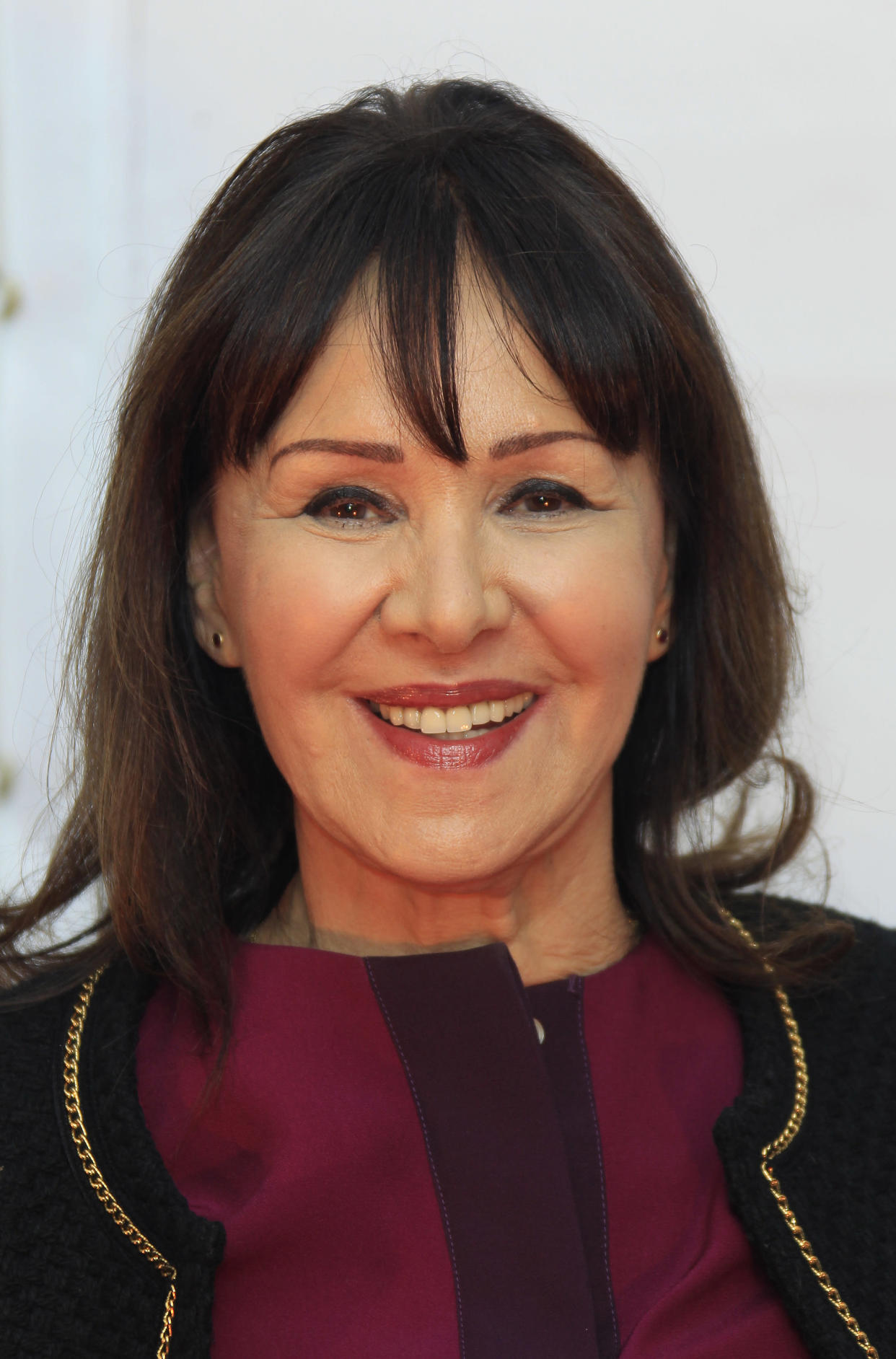 Arlene Phillips arrives for the European Premiere of the latest Cirque Du Soleil show Kooza, at the Royal Albert Hall in central London, Tuesday, Jan. 8, 2013. (Photo by Joel Ryan/Invision/AP)