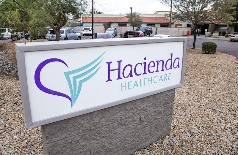 Exterior of Hacienda HealthCare facility in Phoenix on Feb. 18, 2019.
