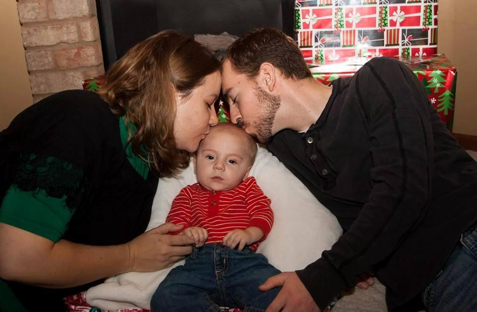 Gloria and Steven with their first baby, Isaac, who died at 14 months (Photo: Courtesy of Gloria Kimmel)