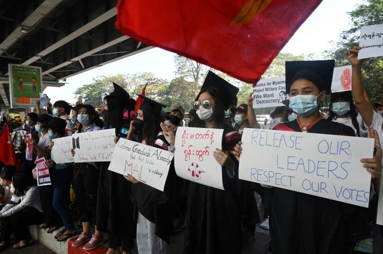 Students and school teachers have been prominent in the anti-junta protests that have shaken Myanmar since the February coup
