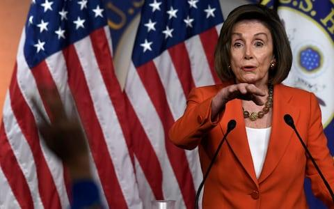 Nancy Pelosi, the Democratic House Speaker, announced the launch of an impeachment inquiry into Donald Trump in September - Credit: AP Photo/Susan Walsh