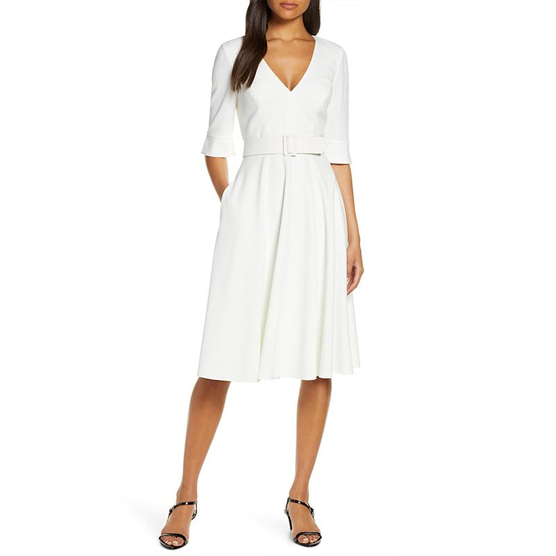 Harper Rose Belted Fit and Flare Dress. (Photo: Nordstrom)