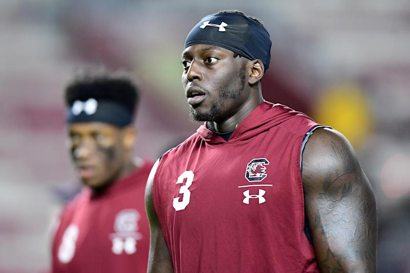 Javon Kinlaw has kept his weight in check. (Photo by Jacob Kupferman/Getty Images)