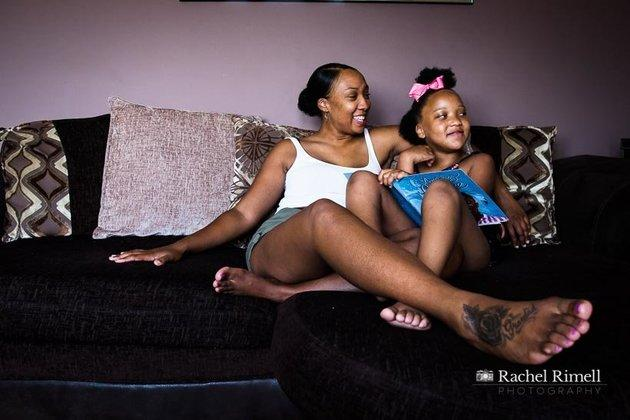 Nichelle and her seven-year-old daughterRuqayyah.