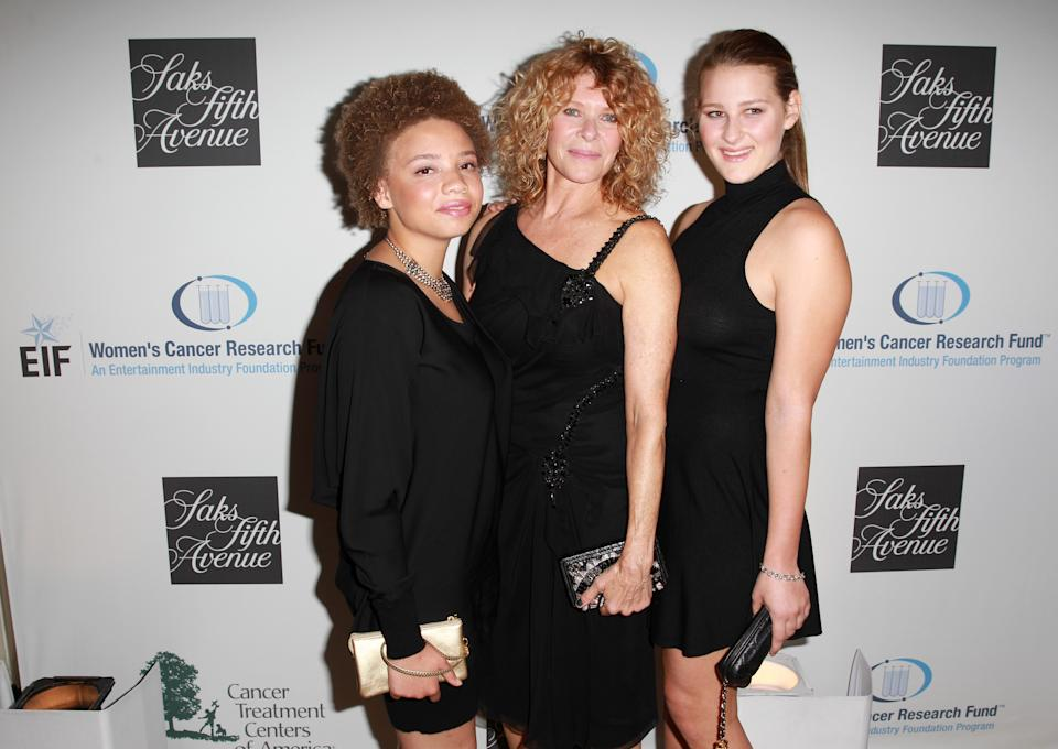 Image of Mikaela Spielberg with Kate Capshaw and Destry Allyn Spielberg