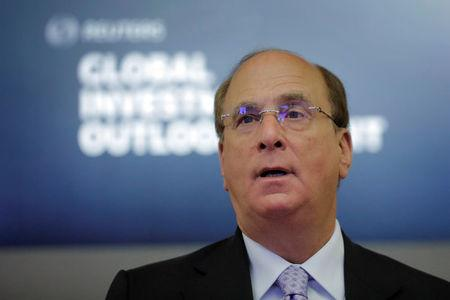 Laurence Fink, founder and chief executive officer of BlackRock, Inc. speaks during the Reuters Global Investment Outlook Summit in New York