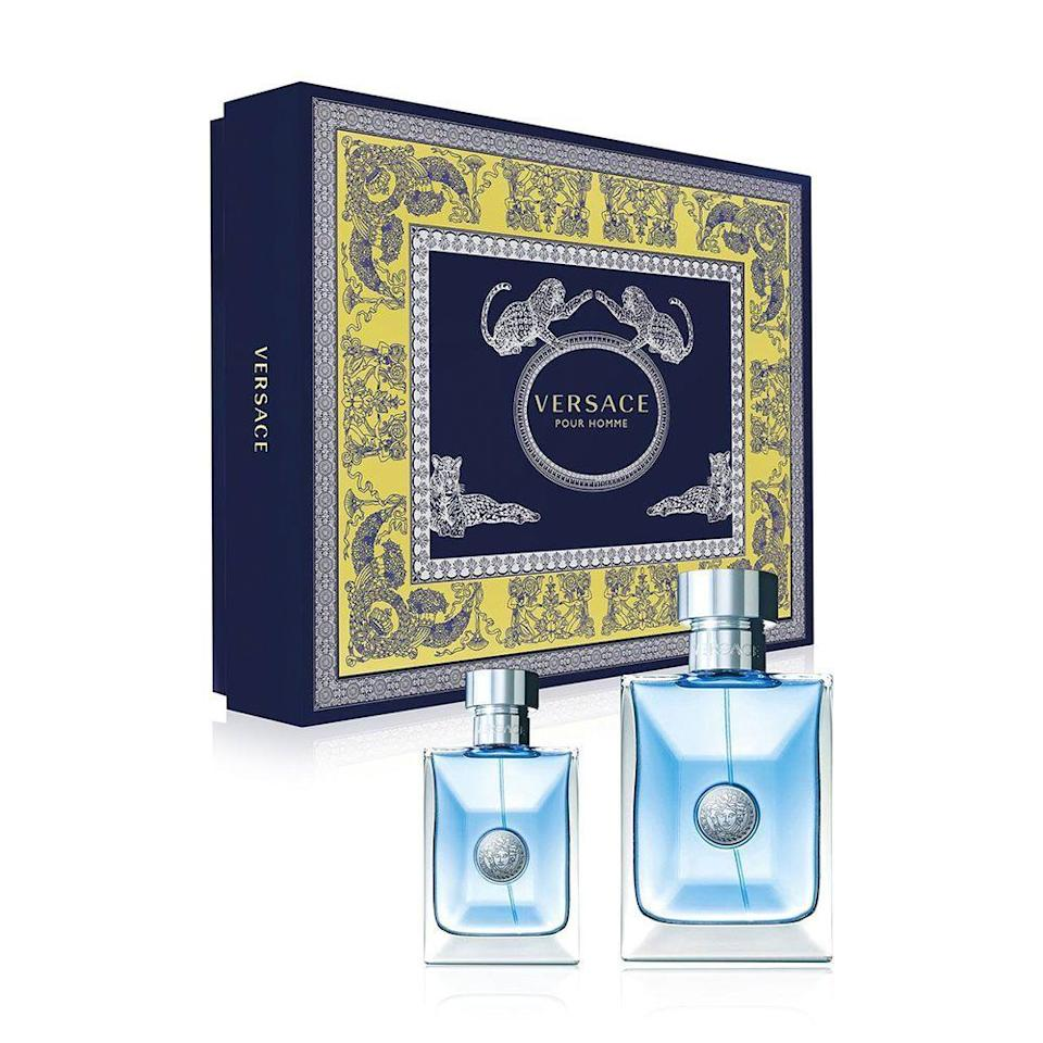 """<p><strong>VERSACE</strong></p><p>nordstrom.com</p><p><strong>$60.00</strong></p><p><a href=""""https://go.redirectingat.com?id=74968X1596630&url=https%3A%2F%2Fwww.nordstrom.com%2Fs%2Fversace-pour-homme-eau-de-toilette-set-148-value%2F5403363&sref=https%3A%2F%2Fwww.menshealth.com%2Fstyle%2Fg33510339%2Fnordstrom-anniversary-sale-2020%2F"""" rel=""""nofollow noopener"""" target=""""_blank"""" data-ylk=""""slk:Shop Now"""" class=""""link rapid-noclick-resp"""">Shop Now</a></p><p><strong><del>$90</del> $60 (33% off)</strong></p><p>Behind every dapper gentleman is a big, fragrant bottle of cologne. With notes of bergamot, diamante citron, orange leaves, and neroli, Versace's delicious scent will make you feel like you're on vacation.</p>"""