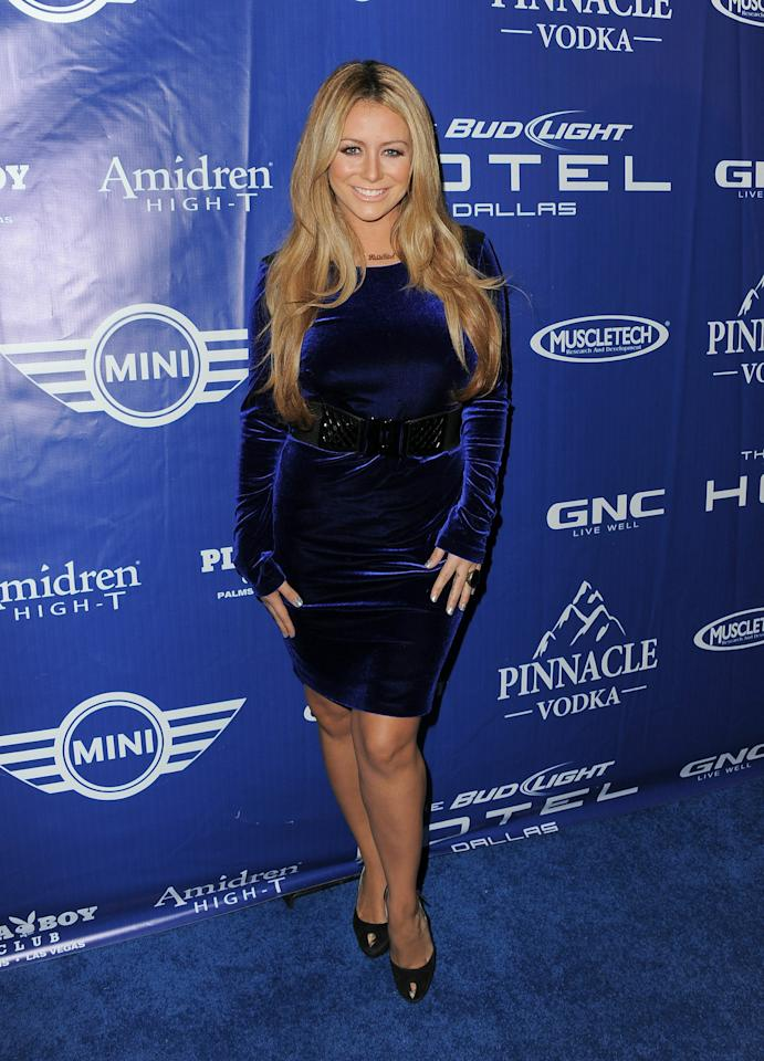 DALLAS, TX - FEBRUARY 04:  Aubrey O'Day attends the Bud Light Hotel Playboy Party with performances by Snoop Dogg, Warren G and Flo Rida on February 4, 2011 in Dallas, Texas.  (Photo by Jordan Strauss/Getty Images for Bud Light)