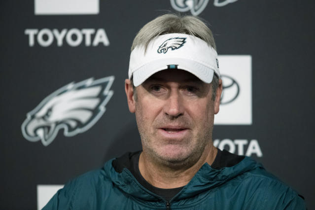 Philadelphia Eagles head coach Doug Pederson said his team will be ready to play on Sunday. (AP)