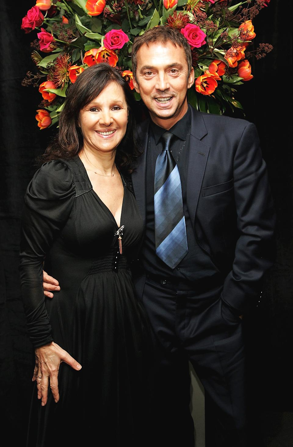 LONDON - JANUARY 21:  (UK TABLOID NEWSPAPERS OUT) 'Strictly Come Dancing' judges Bruno Tonioli and Arlene Phillips arrive at the after party following the UK premiere of
