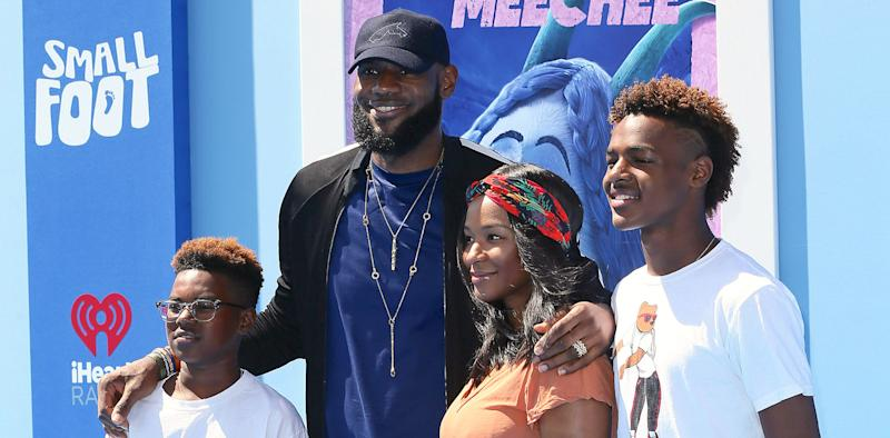 f4d5c94572 LeBron James says he allows his 11- and 14-year-old kids to drink wine.  (Photo: Getty Images)