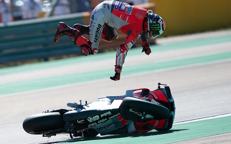 The spills in MotoGP are generally spectacular, although serious injuries are rare - this isn't Cal Crutchlow, fortunately - CormacGP