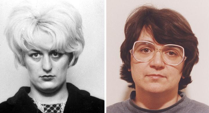 Myra Hindley (L) and Rose West apparently had an affair in prison (Picture: Getty)