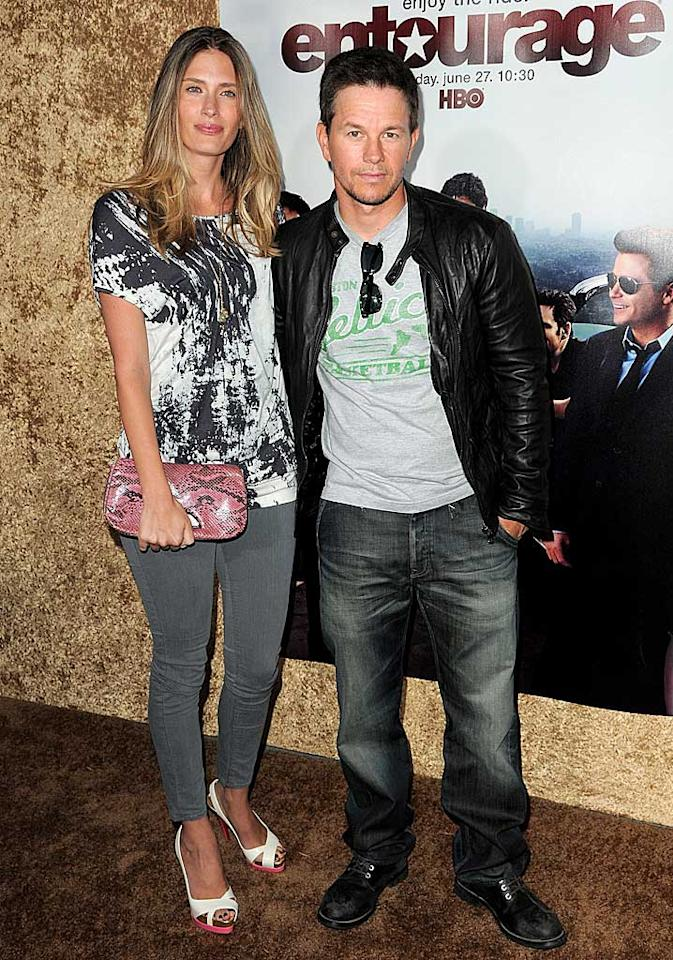 """The show's executive producer Mark Wahlberg and his gorgeous wife Rhea Durham were on hand to support the show that's based on Mark's past life as a Hollywood wild child. Jordan Strauss/<a href=""""http://www.wireimage.com"""" target=""""new"""">WireImage.com</a> - June 16, 2010"""