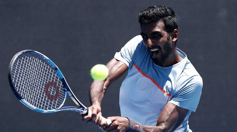 Indian Wells, Prajnesh Indian Wells, Indian Wells Masters, Prajnesh Gunneswaran, Australian Open, Prajnesh Gunneswaran tennis, Indian express