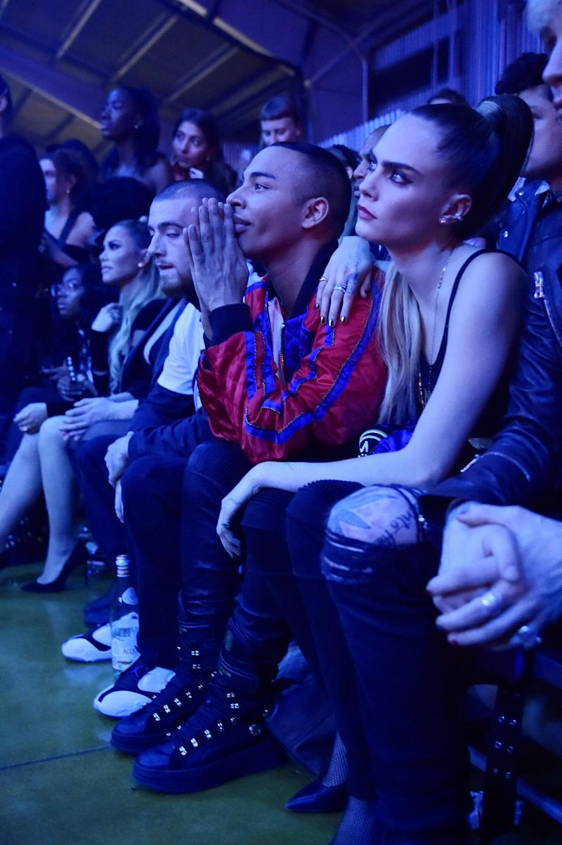 Balmain Creative Director Olivier Rousteing and Cara Delevingne attend PUMA x Balmain created with Cara Delevingne LA Launch Event at Milk Studios on November 21, 2019 in Los Angeles, California. (Photo by Stefanie Keenan/Getty Images for PUMA)