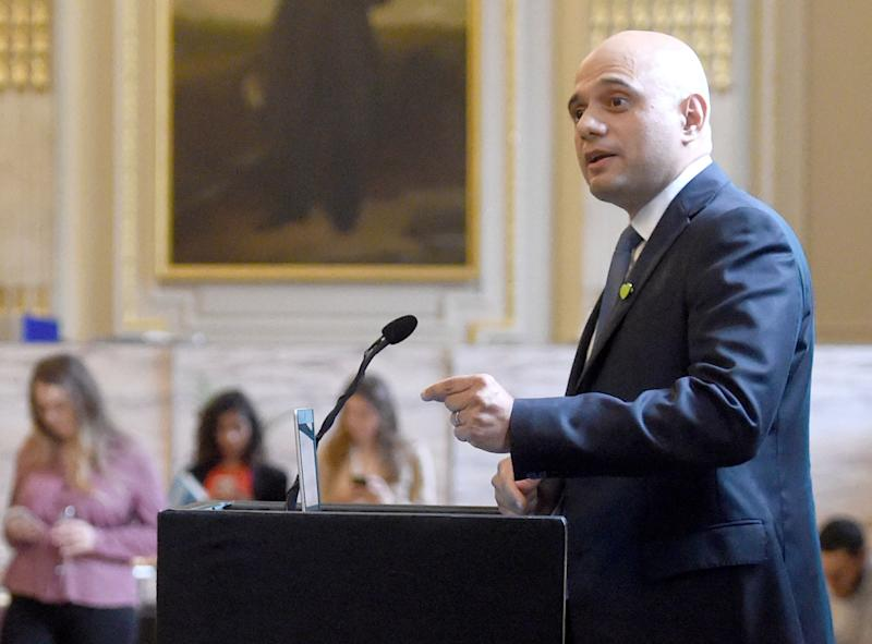Conservative leadership hopeful Home Secretary Sajid Javid at the launch of the Centre for Policy Studies essay collection on Britain Beyond Brexit in central London.