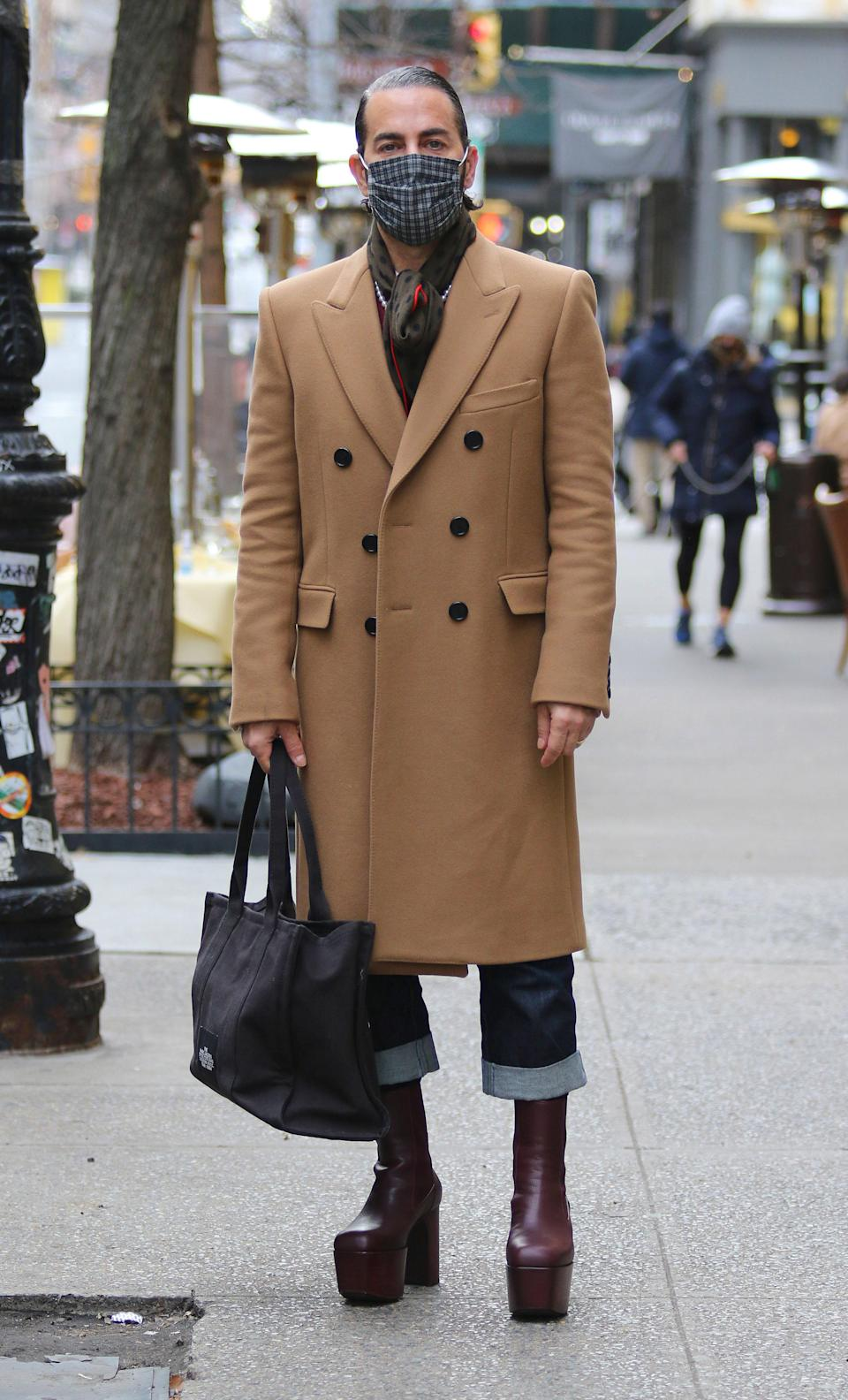 Marc Jacobs in New York, January 21, 2021.