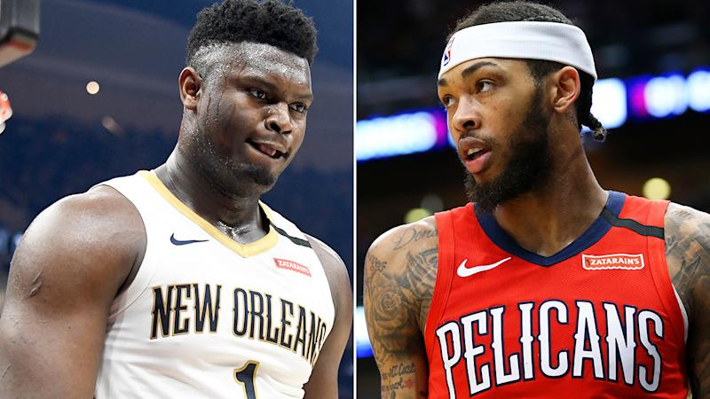 New Orleans got a massive boost when Zion Williamson returned to the lineup, but his presence has meant Brandon Ingram's fantasy numbers have taken a hit. Pictures: Getty Images