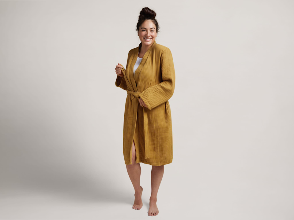 """<br><br><strong>Parachute</strong> Cloud Cotton Robe, $, available at <a href=""""https://go.skimresources.com/?id=30283X879131&url=https%3A%2F%2Fwww.parachutehome.com%2Fproducts%2Frobe-cloud-cotton%3Fopt-color%3Damber"""" rel=""""nofollow noopener"""" target=""""_blank"""" data-ylk=""""slk:Parachute"""" class=""""link rapid-noclick-resp"""">Parachute</a>"""