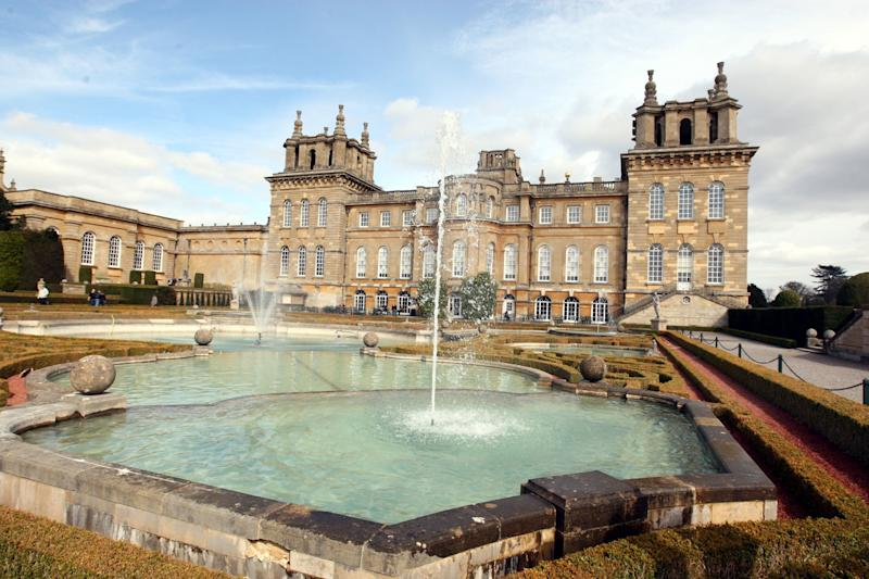 The toilet was part of an art exhibition at 18th century World Heritage site Blenheim Palace (PA)
