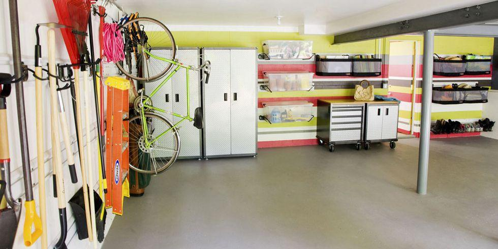 <p>Between the ladders, bikes, and golf clubs, there's usually not much room left in the garage for actual cars. A few smart space tricks are all you need to help you regain some extra square footage. Click through to get organized (and find the weed killer when you need it) with these ingenious storage ideas. </p>