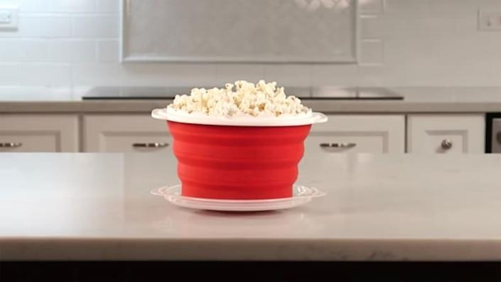 Get the movie theater experience with this microwave popcorn maker.