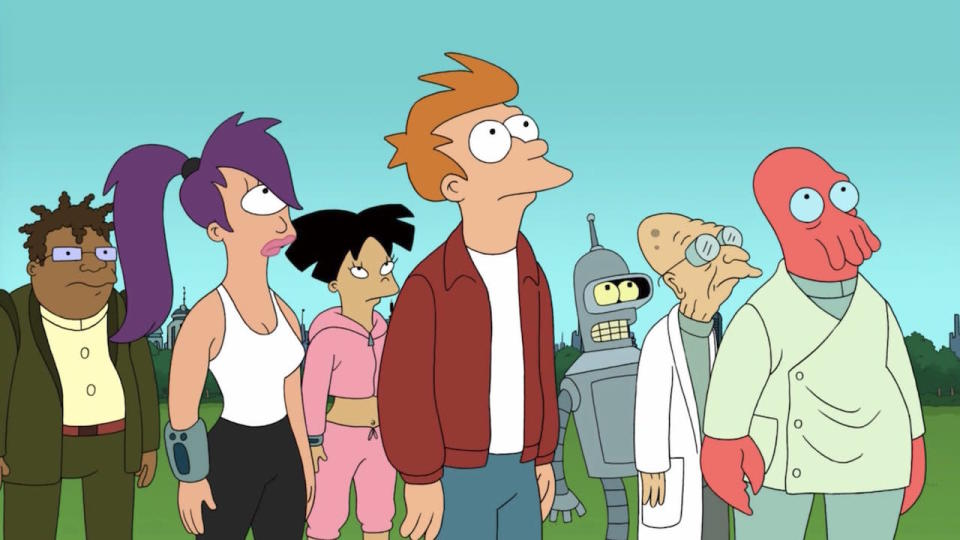 <p> It&#x2019;s interesting to contrast the fortunes of The Simpsons and Matt Groening&#x2019;s&#xA0;<em>other</em>&#xA0;long-running animated sitcom. While the Springfield opus has made it to a record-breaking 31 seasons &#x2013; despite almost everyone agreeing its best days are long behind it &#x2013; the consistently brilliant Futurama spent much of its lifetime avoiding a studio executive&#x2019;s axe.&#xA0; </p> <p> With Fox having initially decided to call it a day after season 4 in 2003, Futurama was resuscitated as a quartet of direct-to-DVD movies in 2008. They were also aired as a 16-part season by the show&#x2019;s new home, Comedy Central, who subsequently went back to the 31st century for a further two seasons, before switching off the lights of Planet Express for the (we think) final time in 2013. </p>