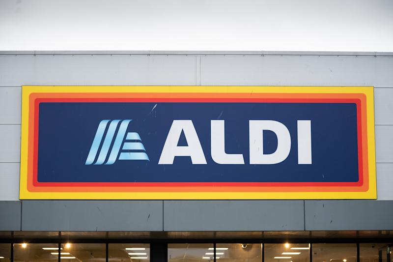 A general view of the outside of an Aldi store with Special Buy buzz on. July 11 dryer buy